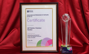 MRV Recognised as International Dimensions in School 2020-23 from British Council