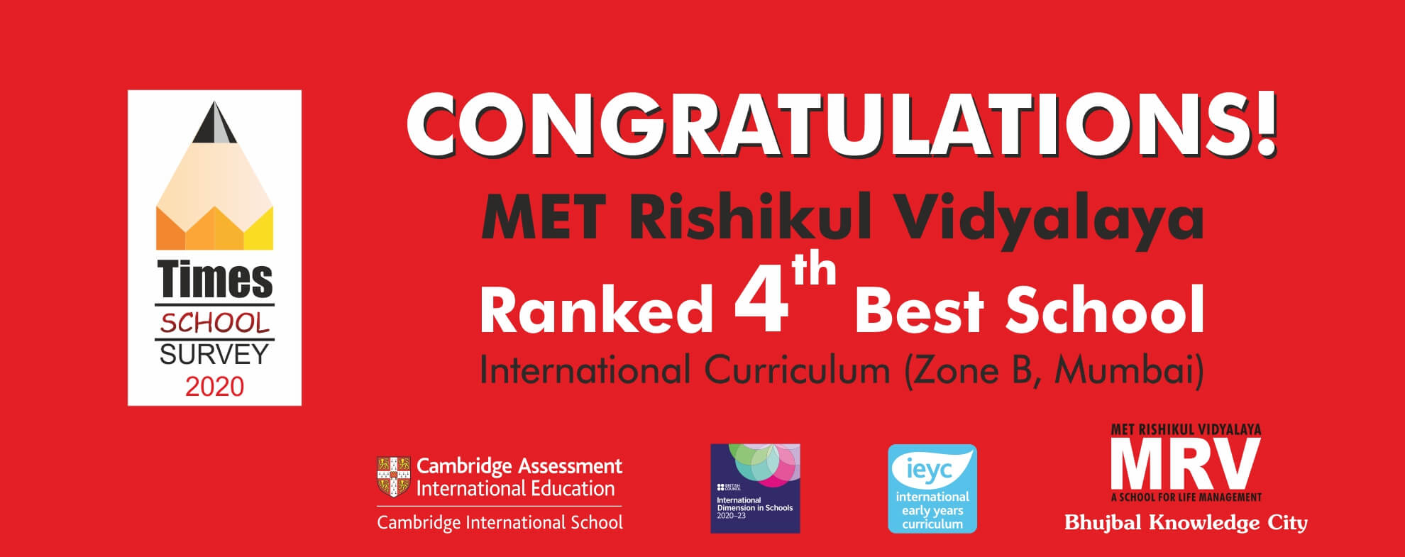 MRV Ranked 4th Best School