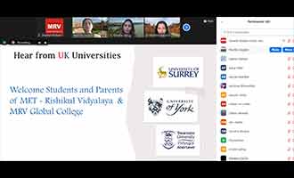 Virtual meet with Universities in the UK